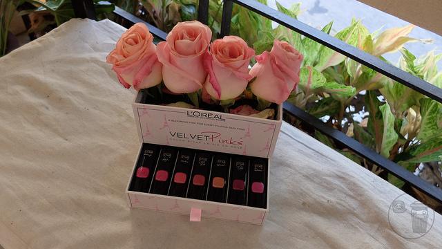 loreal velvet pinks