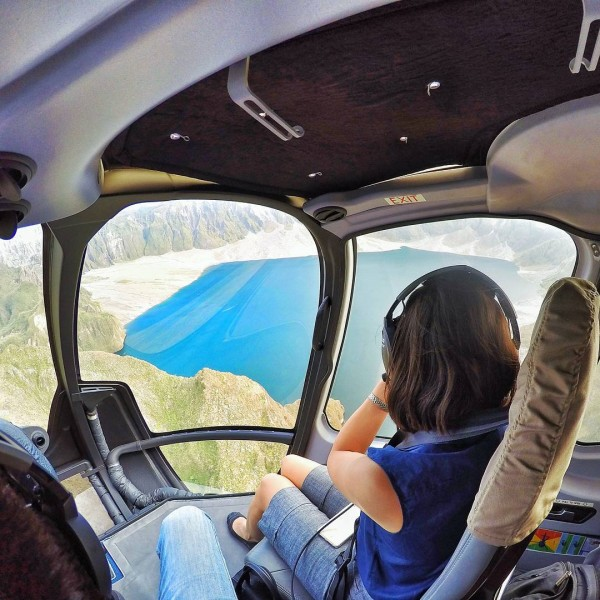 gretchen gatan helicopter ride