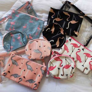 Flamingo Travel Pouch Sets