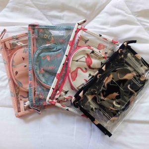 Flamingo Travel Pouch Sets