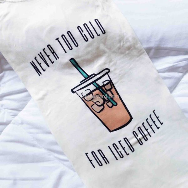 Oversized Graphic Shirt: Iced Coffee