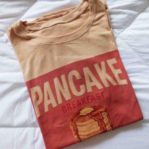 Oversized Graphic Shirt: Pancakes