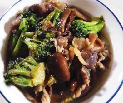 how to cook beef broccoli with mushroom in oyster sauce