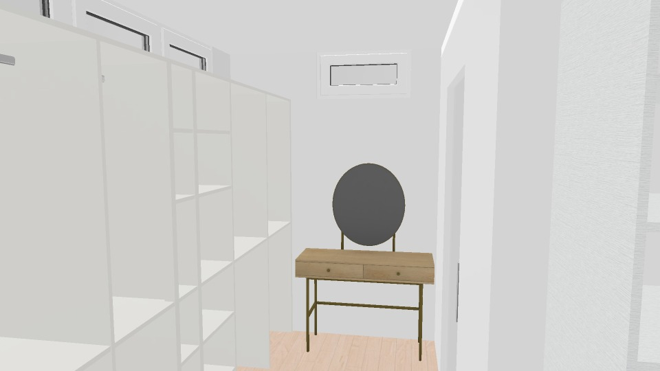 walk-in closet and bathroom render