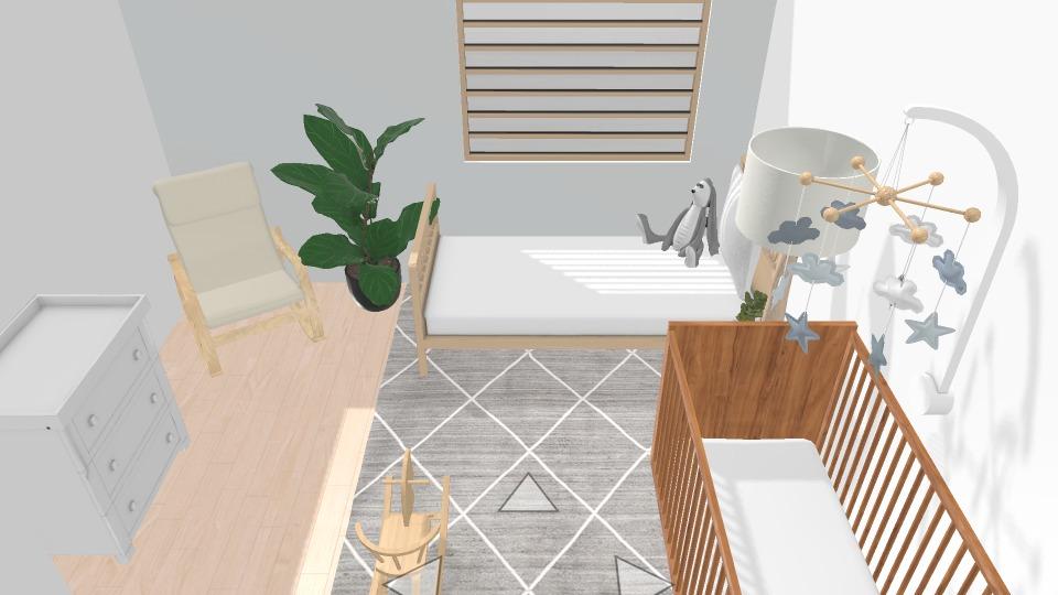 gender neutral nursery room render