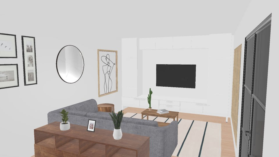 nordic themed living room render