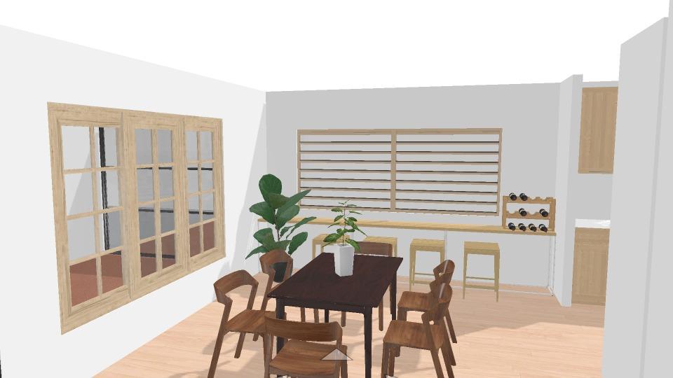 modern tropical kitchen design render