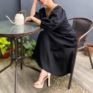 Flora Puff-Sleeved Dress