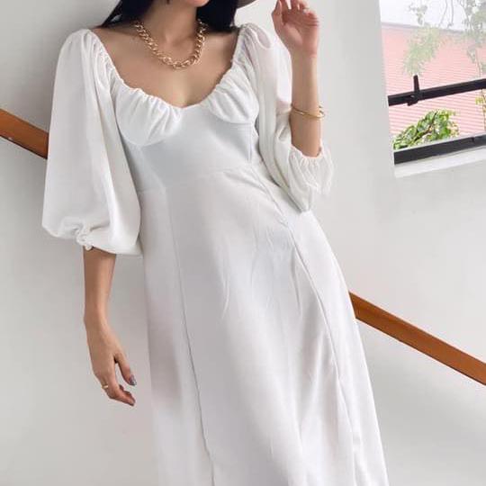 Flora Dress - White