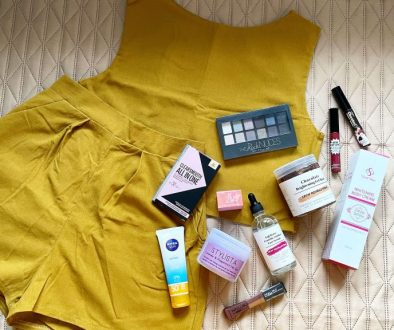 flatlay of maybelline ph and other products