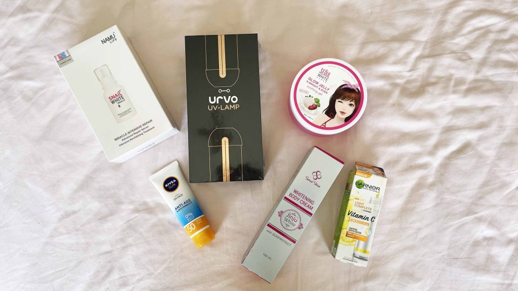 portable uv sterilizer and skincare products