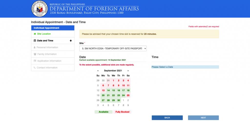 online passport renewal website